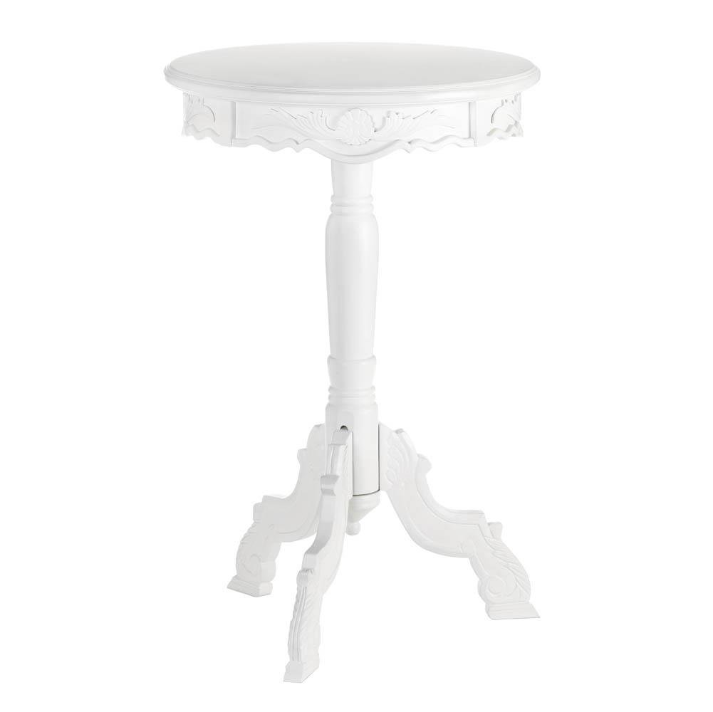 outdoor accent table round mini rococo patio dining white side rustic trestle style kitchen building barn door gateleg drop leaf italian lamps for living room big ott pottery