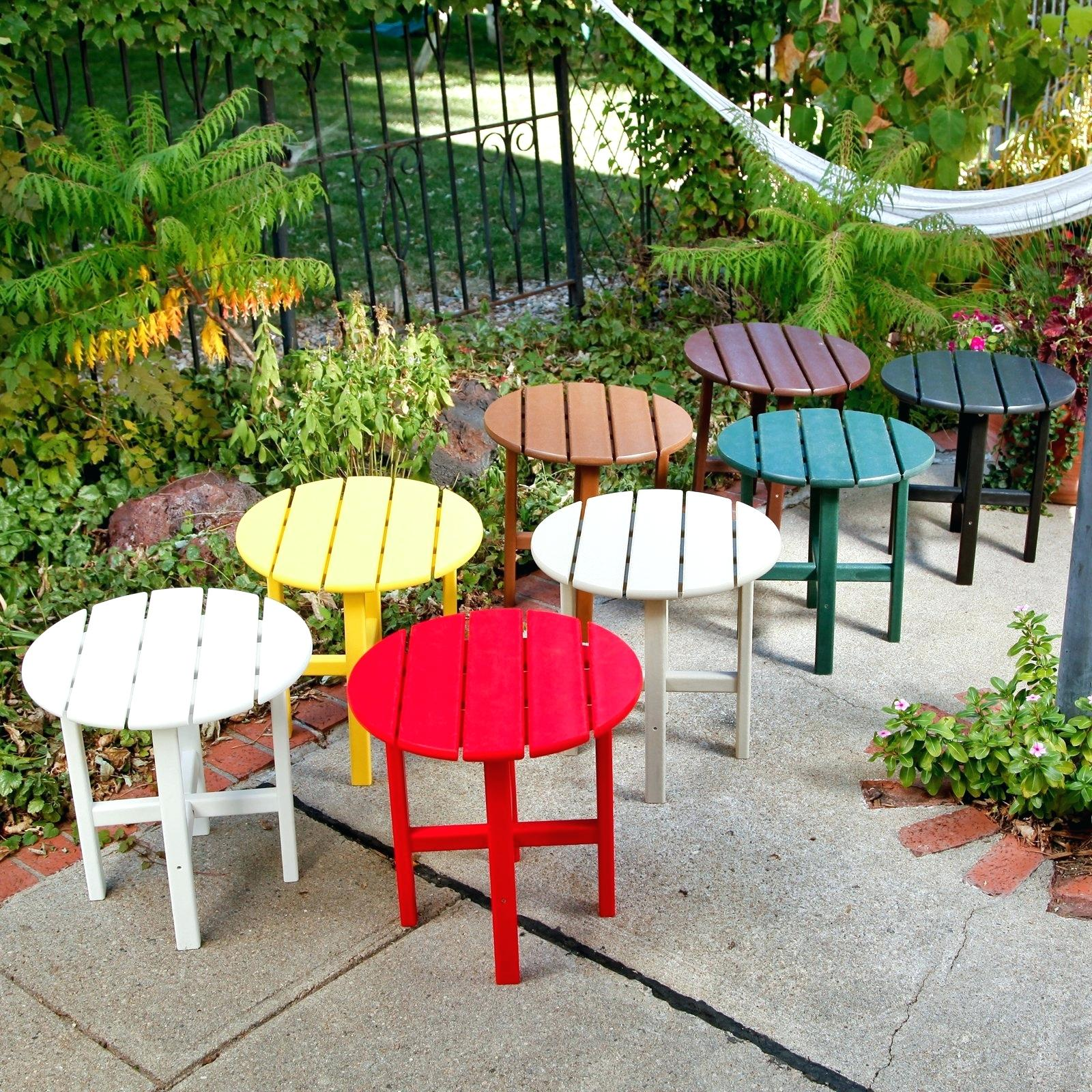 outdoor accent tables metal small pioneerproduceofnorthpole furniture side mosaic tile table round industrial coffee drop leaf kitchen and chairs white runner inexpensive patio