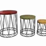 outdoor accents white metal wire cage style round drum patio side garden stool accent table end storage trunk ikea square shelves home goods wall mirrors unfinished wood ashley 150x150
