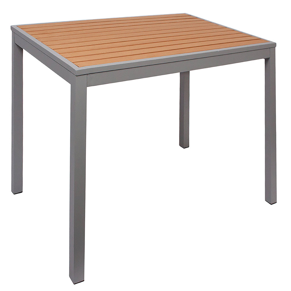 outdoor aluminum furniture chairs side table umbrella hole colors bfm seating longport inch square silver indoor standard height coffee tray target weatherproof garden kids