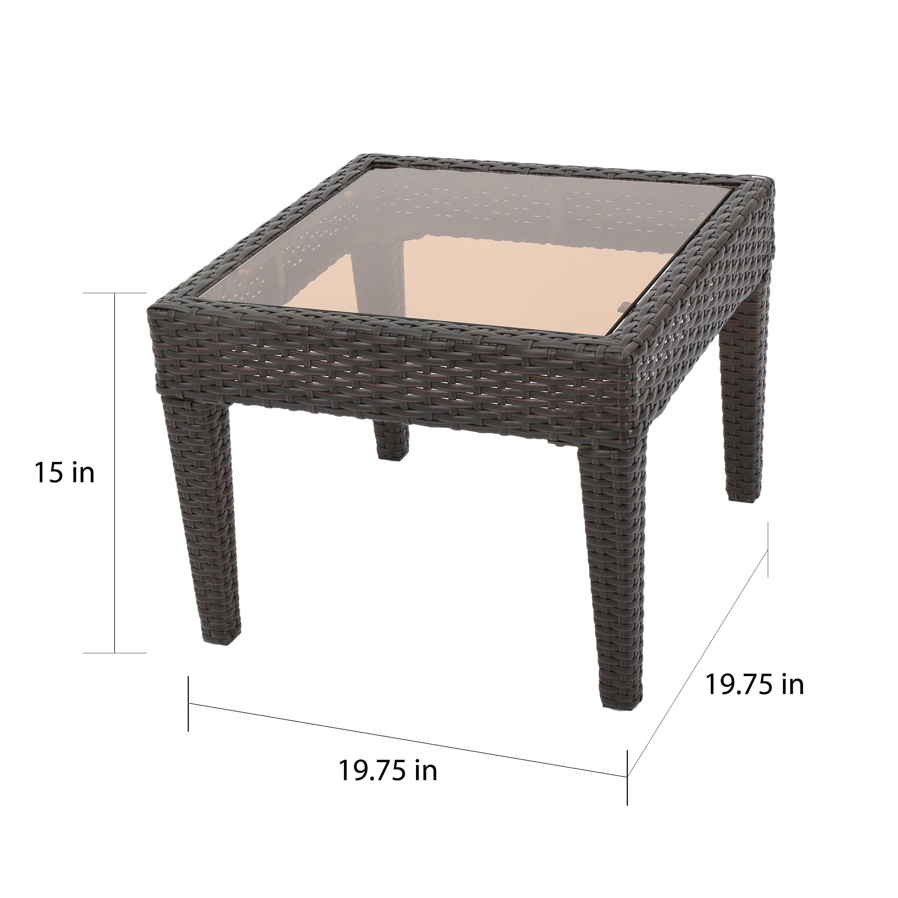 outdoor antibes wicker side table christopher knight home free shipping today wedding covers with basket drawers sets hairpin furniture legs bar height wood rose gold tudor
