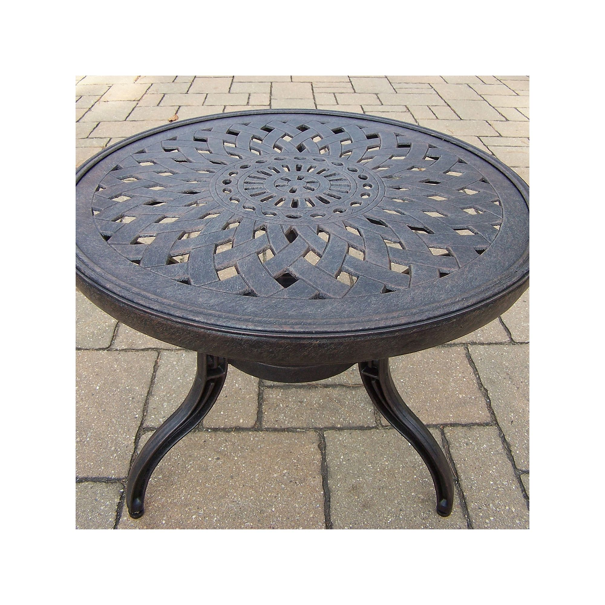 outdoor belmont round patio end table other clrs products mosaic accent kohls slipper chair union jack furniture vienna gray linens diy granite countertops iron garden target