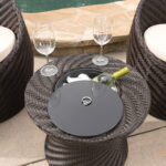 outdoor brown wicker accent table with ice bucket cheers all belen patio furniture sets umbrella vinyl floor door strip gray wood marble bedside drawer contemporary standing lamp 150x150