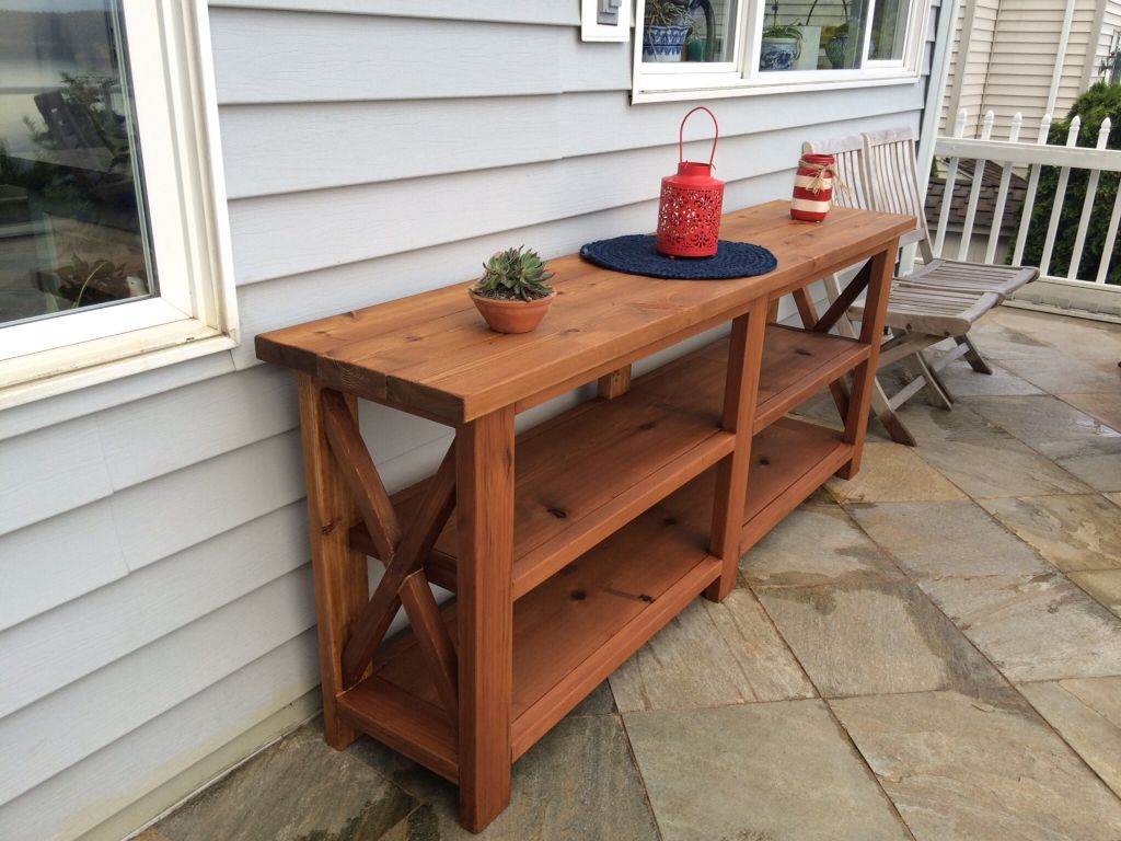 outdoor buffet server built from cedar using ana white rustic sideboard table console plans inch round tablecloth wine cabinet black glass coffee modern purple side outside patio