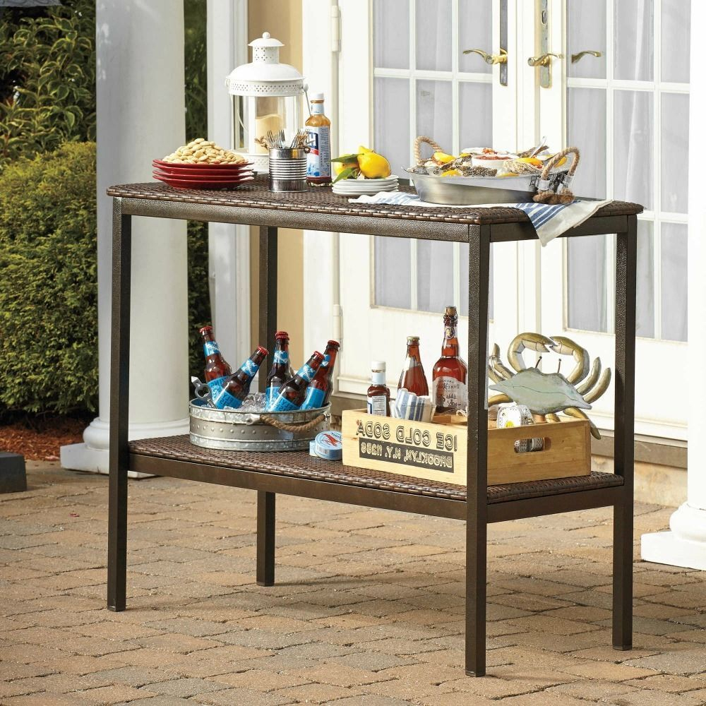 outdoor buffet table patio furniture wicker console resin serving and sideboards buffets sideboard leather drum stool lamp with usb port deck covers mission style lamps vintage