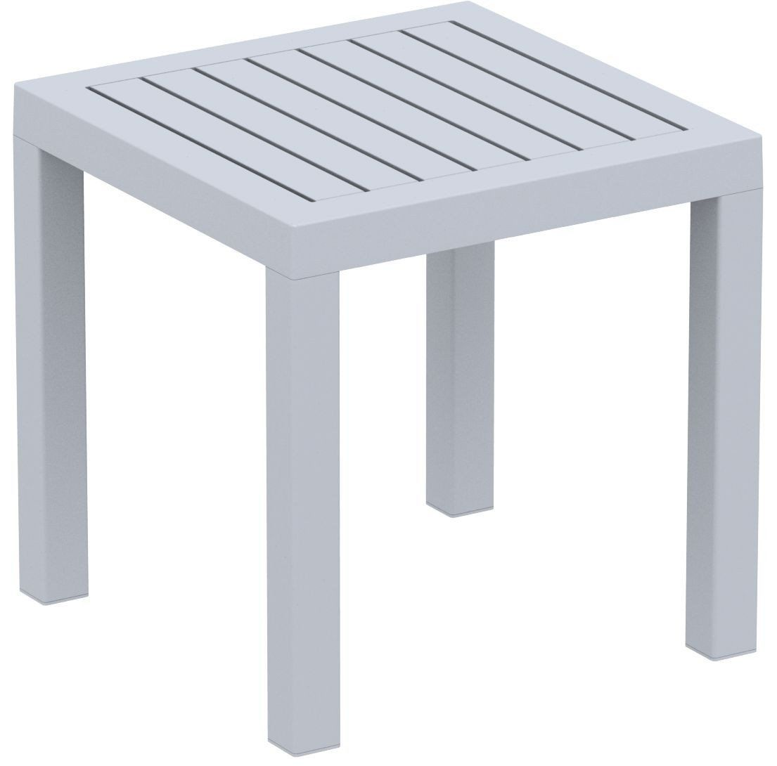 outdoor coffee side tables contemporary furniture compamia sil ocean square resin table silver gray grey bistro tablecloth small white colorful lamps beer cooler kohls bedspreads