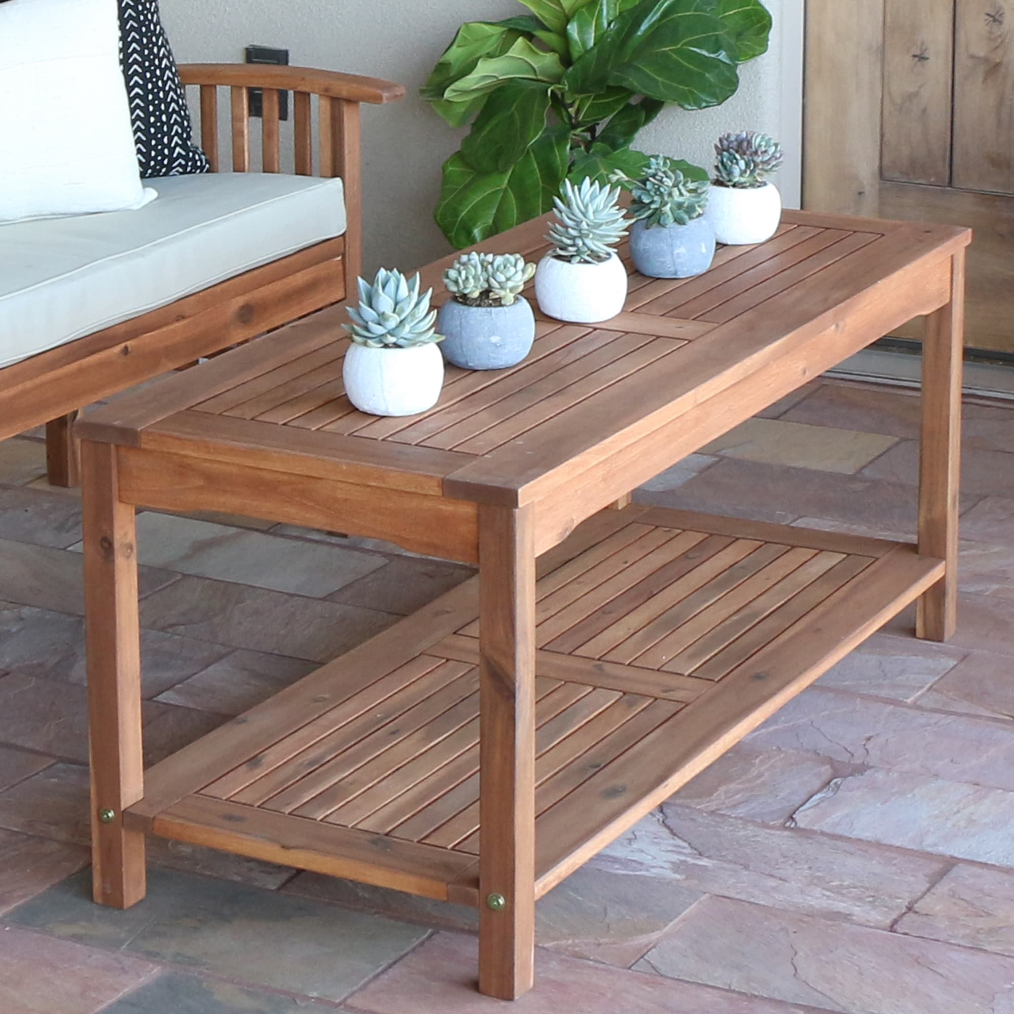 outdoor coffee side tables our best acacia wood inch brown patio table folding end furniture aluminum chairs pretty bedside lamps funky accent hidden storage rattan miami carolina