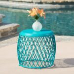 outdoor coffee side tables our best alamera inch lattice table christopher knight home stratford wicker folding accent bronze patio furniture wood with metal frame retro style 150x150