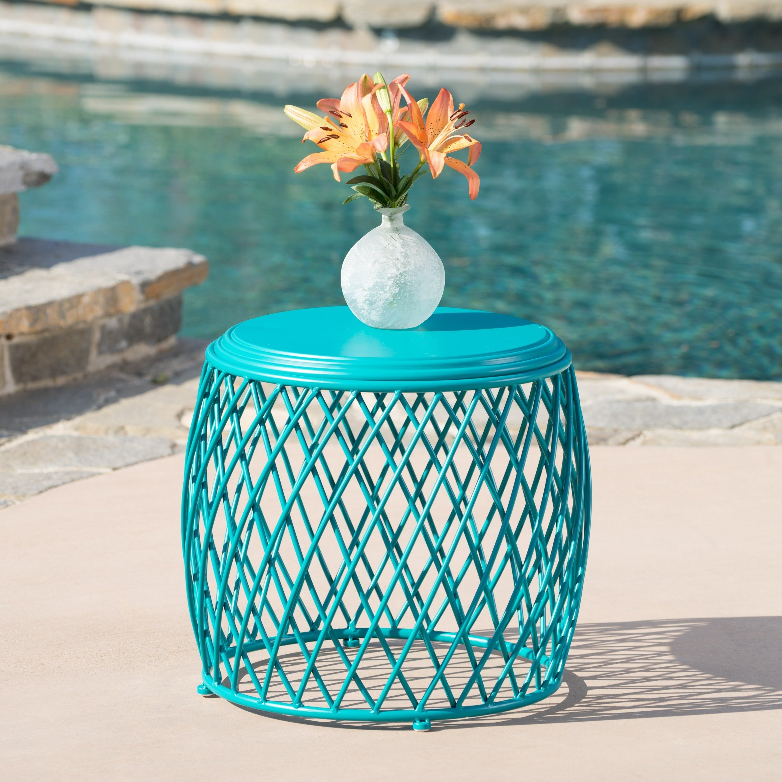 outdoor coffee side tables our best alamera inch lattice table christopher knight home stratford wicker folding accent bronze patio furniture wood with metal frame retro style