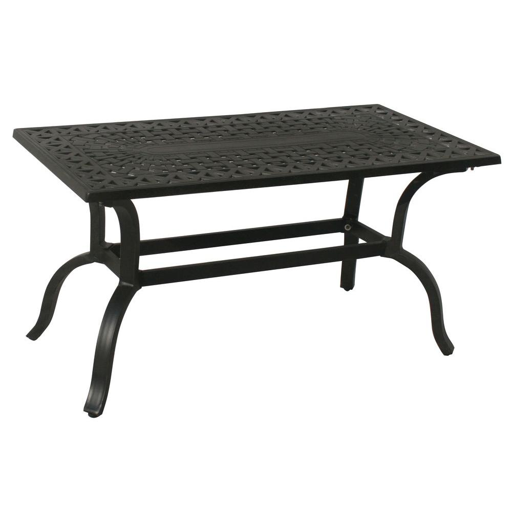 outdoor coffee tables patio the oakland living spring haven umbrella accent table hampton aluminum rectangular furniture for less looking lamps sei mirage mirrored hopkins target