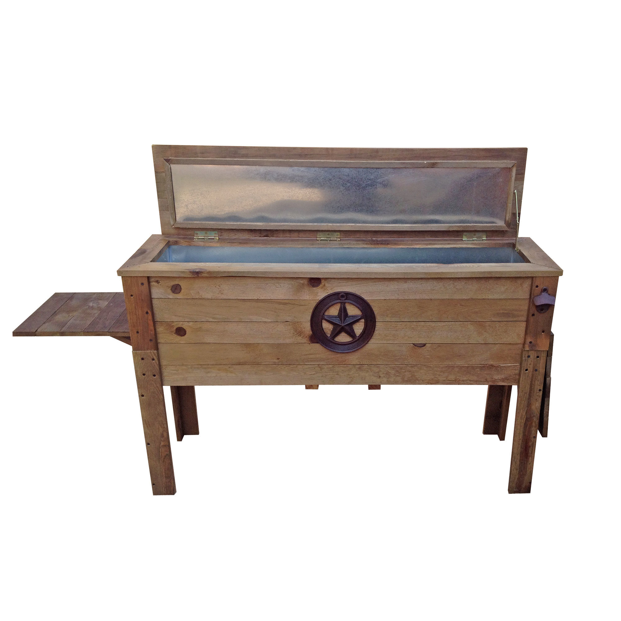 outdoor cooler side table decorative wooden distressed round accent garden bench seat bunnings with lights storage ott target ikea toy cubes mirrored drawer acrylic coffee bar