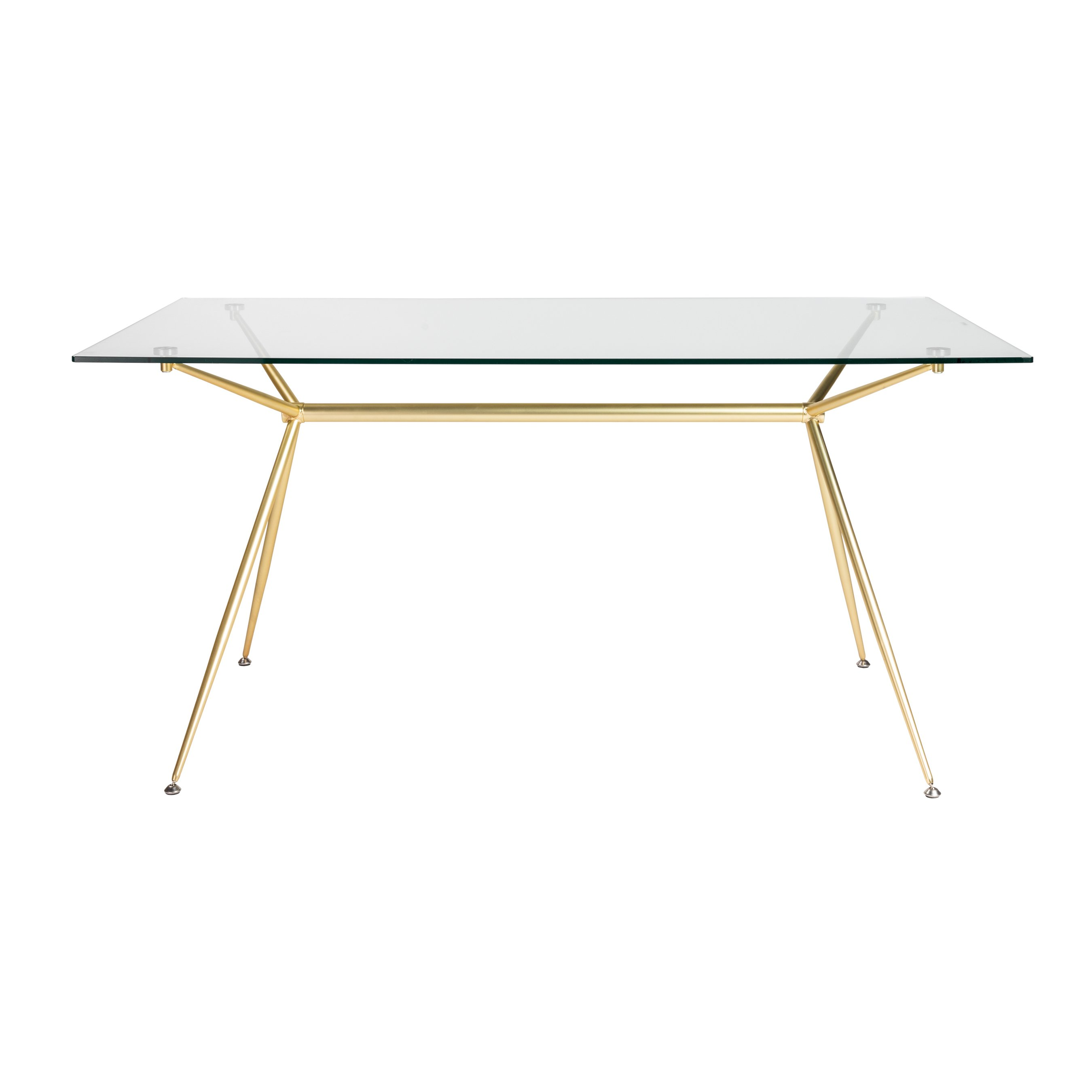 outdoor furniture auckland glass trestle table desk atos rectangle dining with clear tempered top and matte brushed gold base free shipping today strong folding wooden world