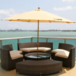 outdoor furniture small table mini patio plastic stacking side tables bistro with parasol hole umbrella round pedestal antique white entry coffee legs nautical tures carsons end 150x150