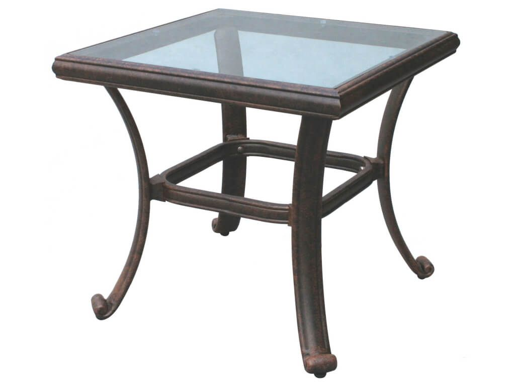 outdoor garden darlee counter height cast aluminum patio old style small square glass top end table ideas with umbrella hole tables white accent black and area rugs teak side