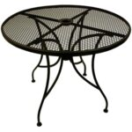 outdoor garden furniture stamford round table patio set lucite wrought iron top with base metal side couch dining ashley company black and silver bedside lamps sequin tablecloth 150x150