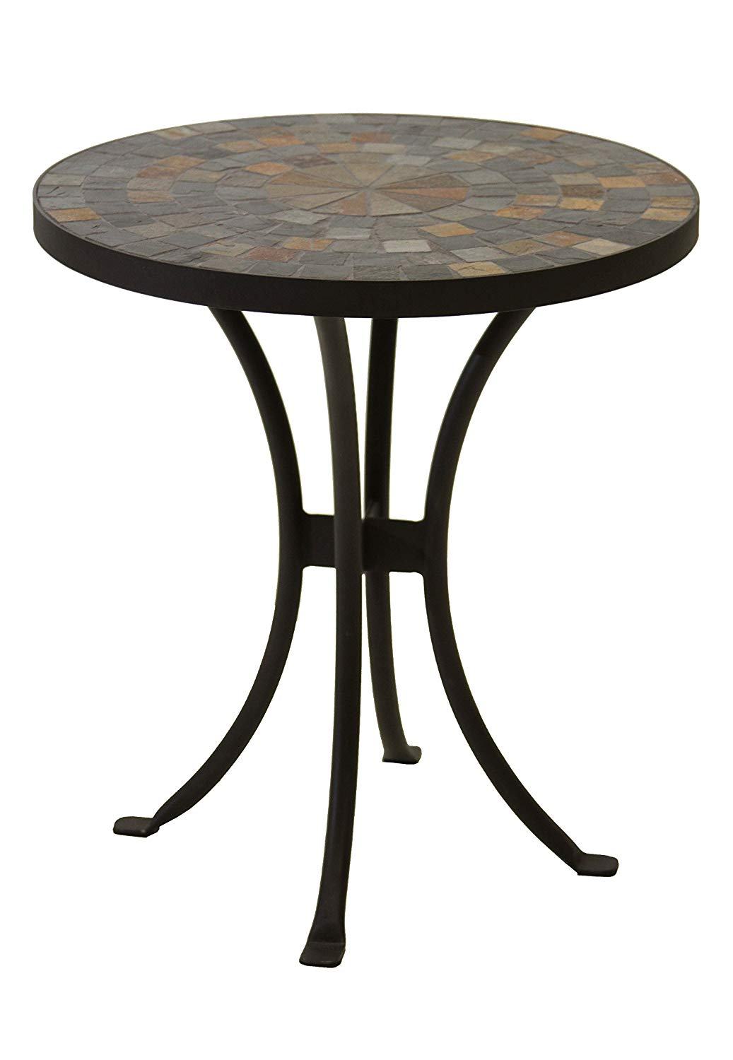 outdoor interiors llc mosaic side table inch stone accent patio tables garden gray metal coffee chestnut sofa with chairs clear acrylic end contemporary hallway furniture screw