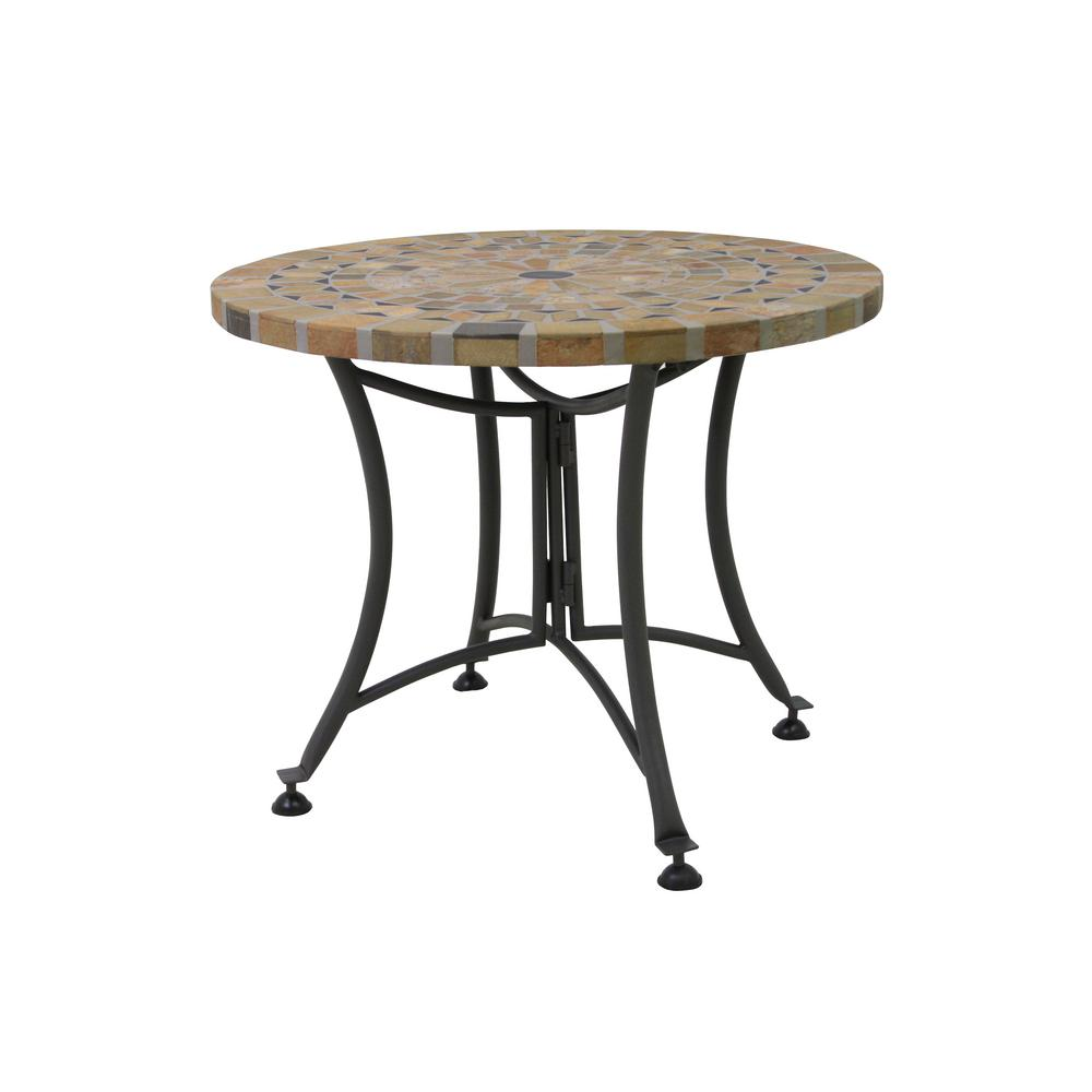 outdoor interiors round sandstone metal accent table side tables tall gold lamp bistro black dining room brown end solid cherry narrow bedside modern ceiling lights mission style