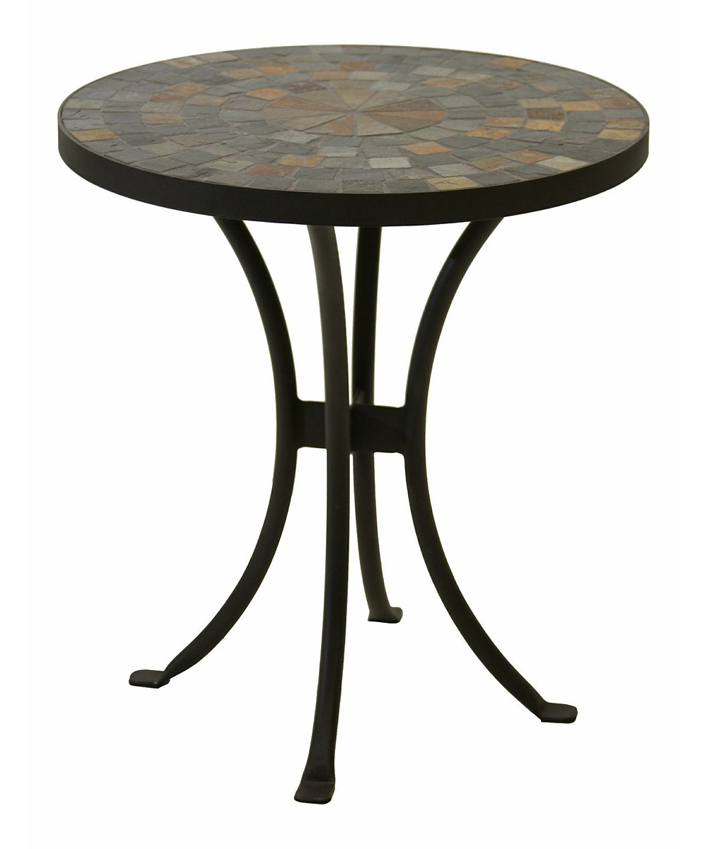 outdoor interiors slate mosaic accent table zulily outdoorinteriors wood share ott top metal door threshold strips patio loveseat clearance solid marble side unique chairs
