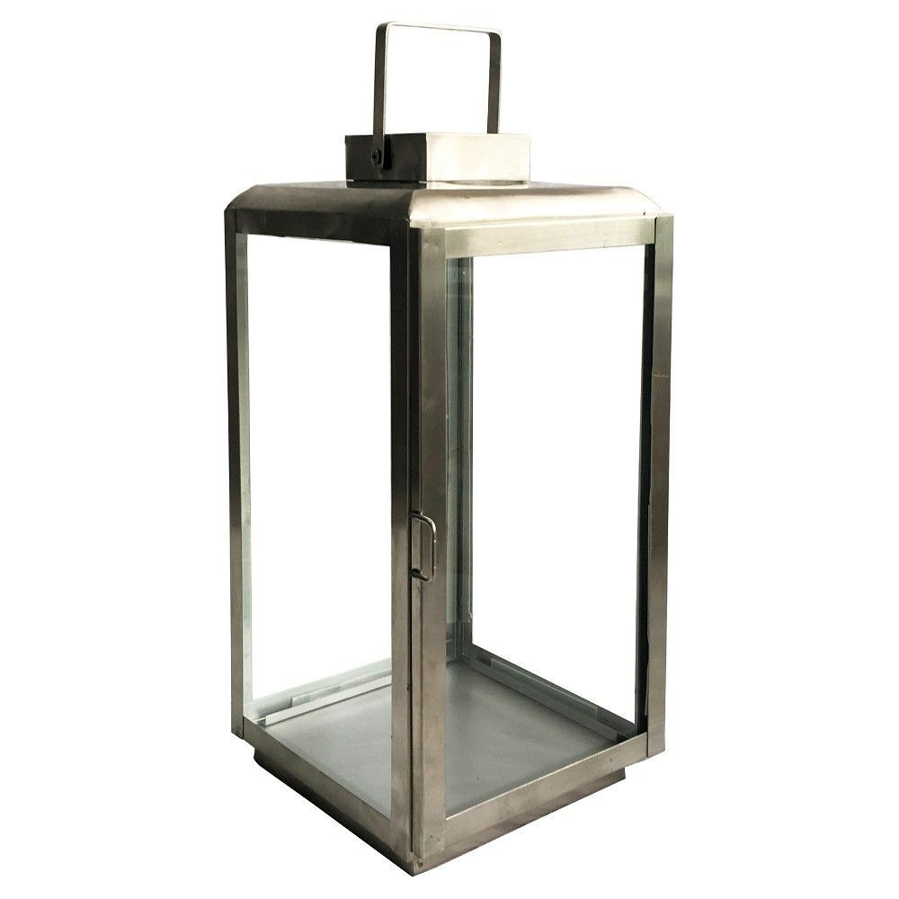 outdoor lantern stainless steel large brushed nickel threshold margate accent table orient lighting piece counter height dining set resin side contemporary trestle buffet ikea