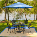 outdoor living patio coffee tables hom furniture umbrella accent table blue colors are popular this year all wood sofa xmas tablecloth velvet small garden next room woven pottery 150x150