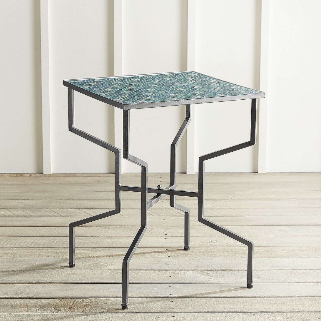 outdoor mosaic accent table tile zaltana side awesome home concrete and wood target bench futon dressing ikea bedside drawers monarch teal occasional chair types furniture raw