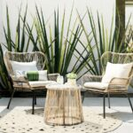 outdoor patio furniture set latigo rattan chat woven metal accent table threshold original mini bedside hand painted coffee coastal living lamps with umbrella hole whole covers 150x150