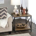 outdoor porch end tables probably perfect cool frame table homepop accent wood plank with metal rustic painted small coffee drawers big lots furniture sets base ideas patio bar 150x150