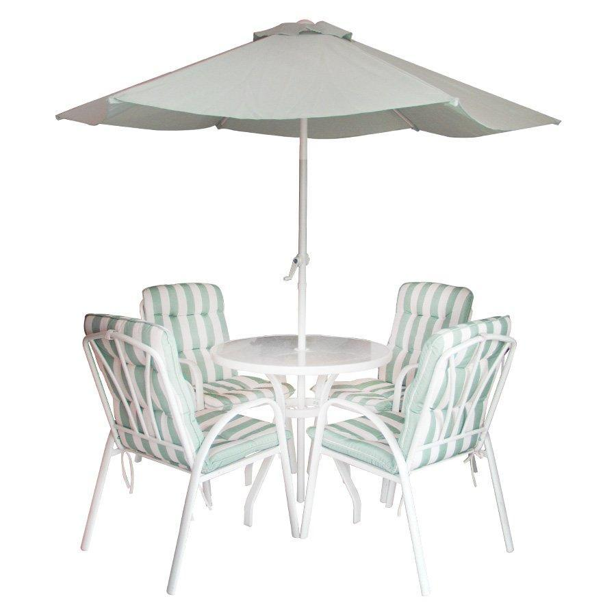outdoor sets mandaue foam patio umbrella accent table kfset str stripe grn target black pottery barn square dining velvet furniture battery lamps clear coffee acrylic high end
