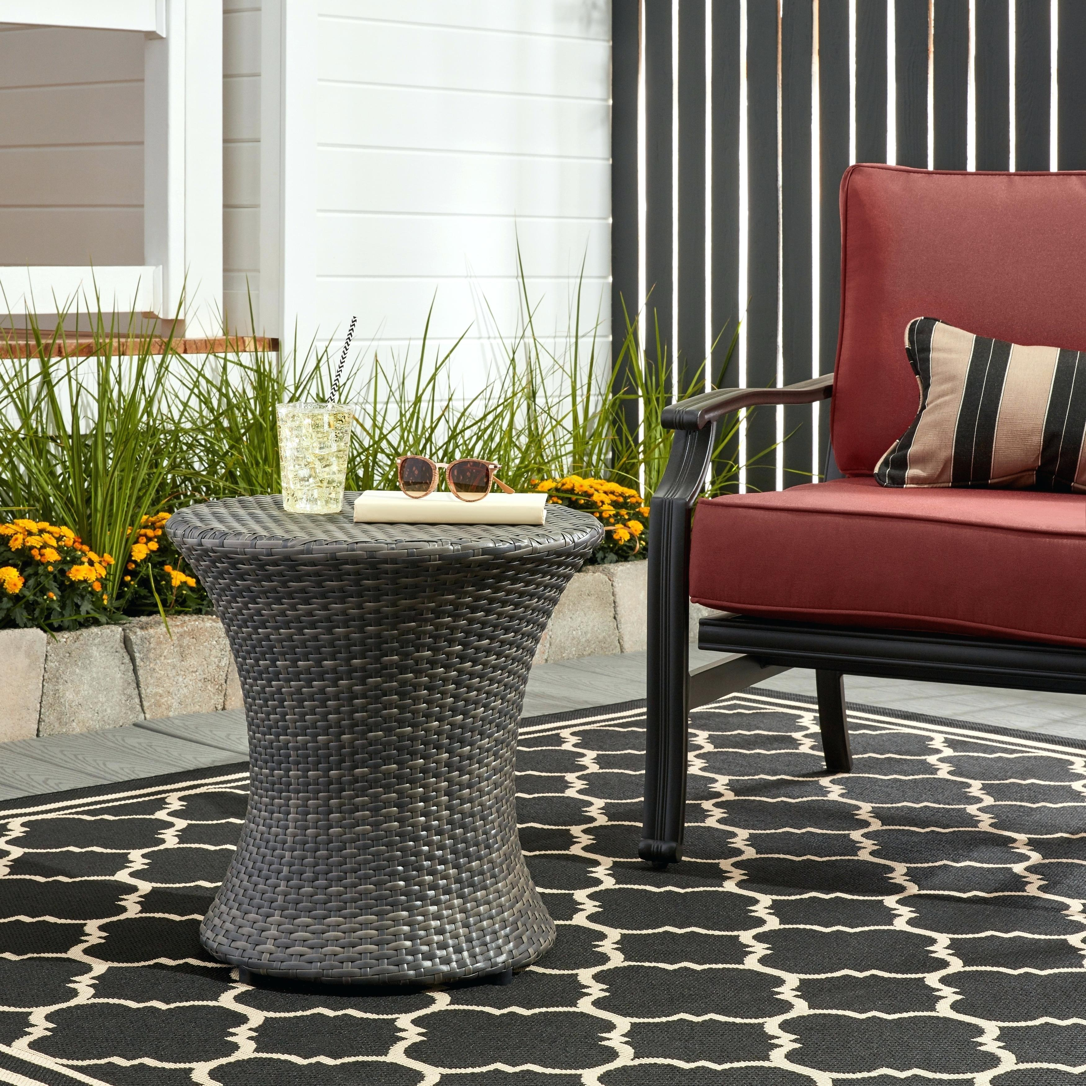 outdoor side table res diy plans mosaic tile wicker with umbrella white metal storage target hole pottery barn furniture west elm corner curio cabinet small accent lights windham
