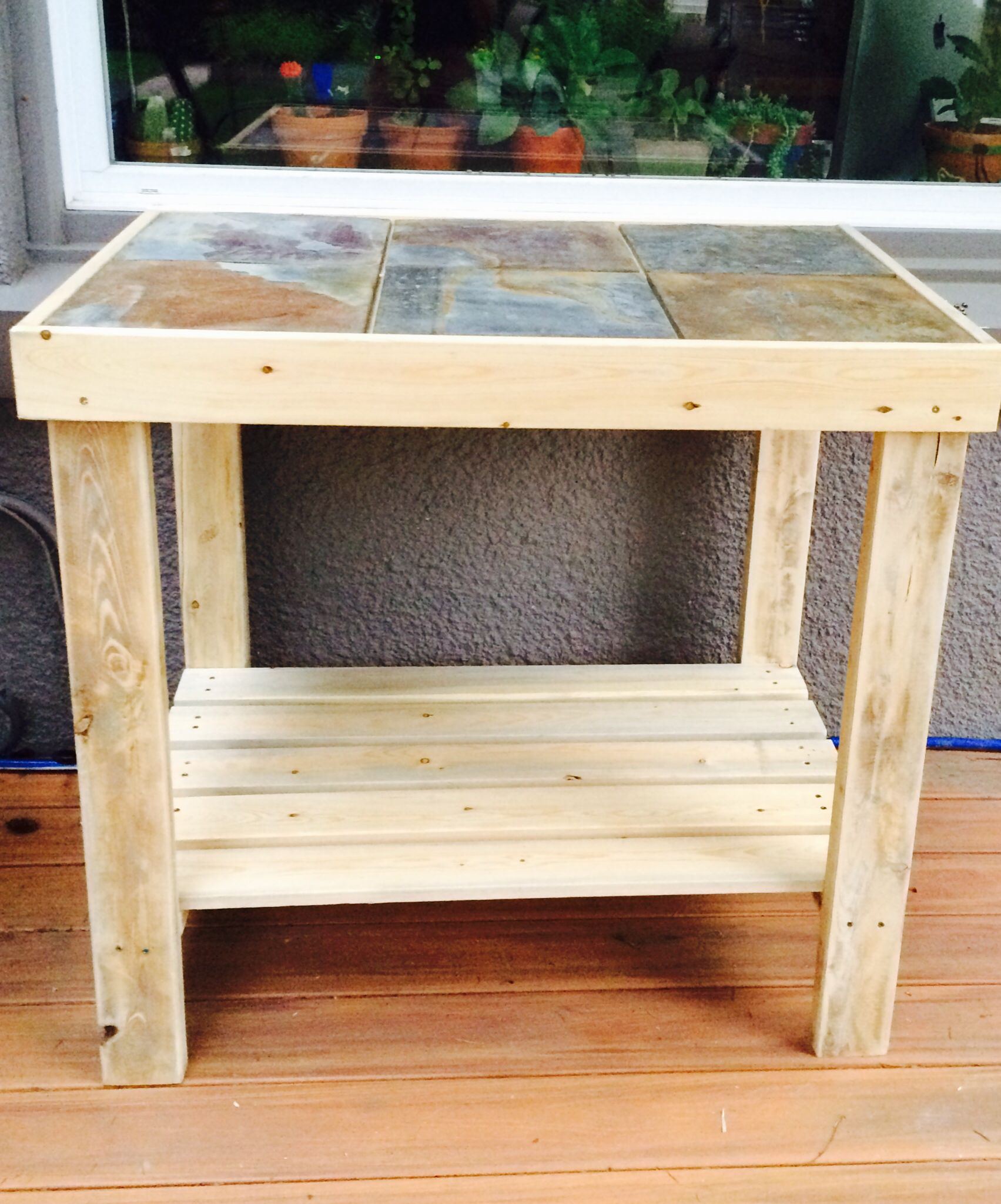outdoor side table that adds extra counter space next bbq for constructed with and pine lumber easy project completes day beginner iron end tables glass tops thin bedside cabinets