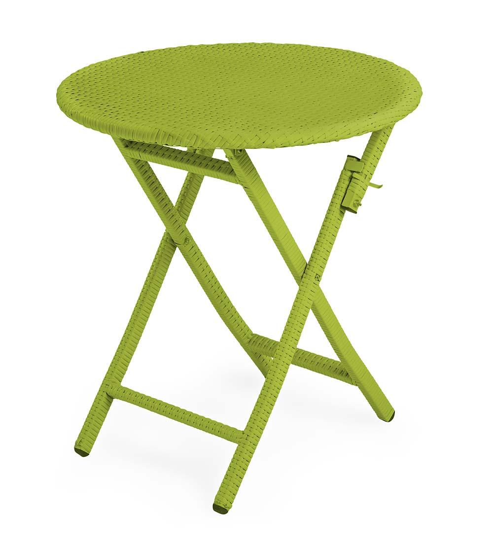 outdoor side tables plowhearth frog drum accent tangier wicker folding round bistro table mirrored end plastic nest furniture sets mouse wired antique teak patio fitted covers