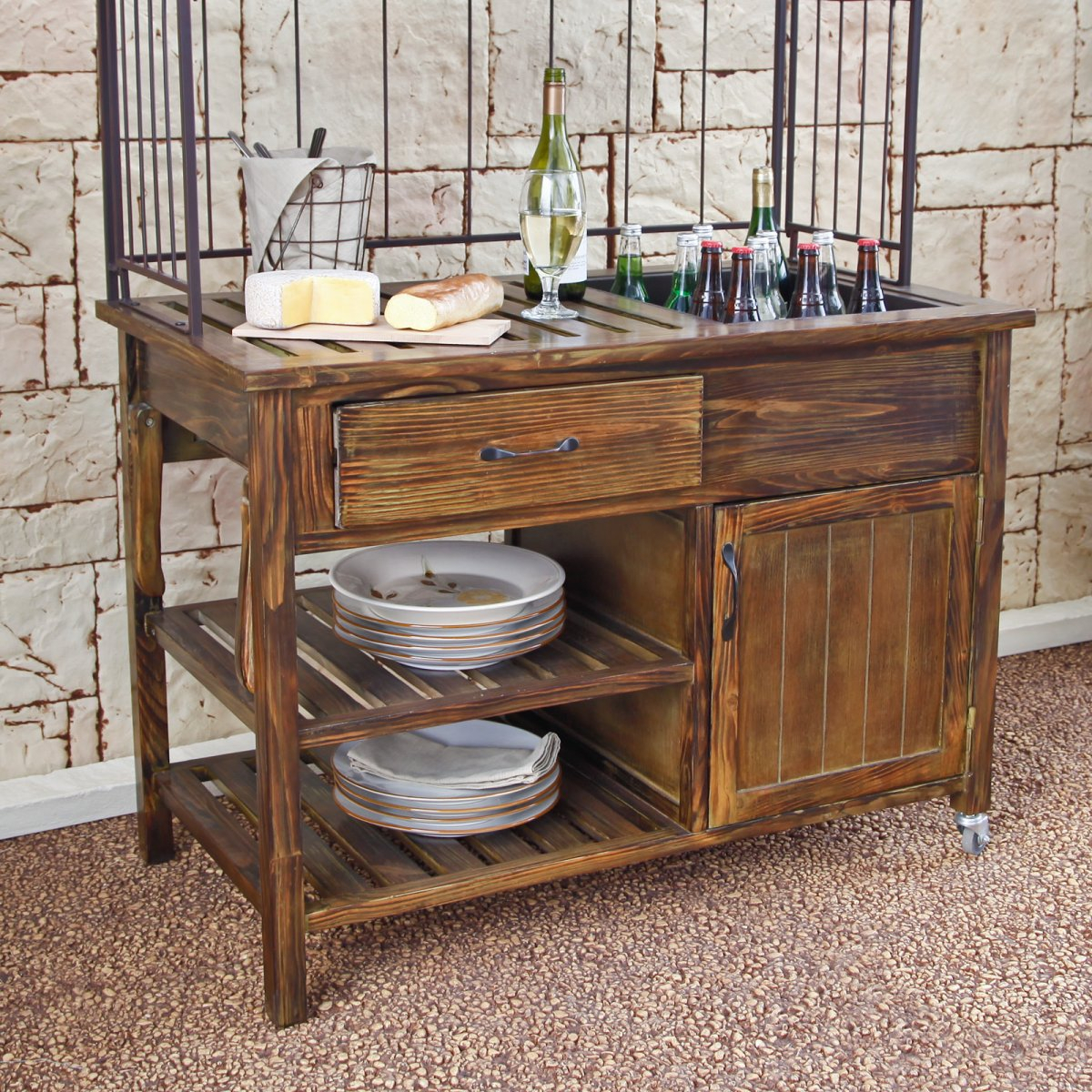 outdoor sideboard buffet table modern coffee tables and accent well patio cabinet large wall clocks grey wood lamp with usb port bedside mission style lamps small kitchen leather