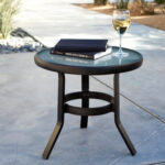 outdoor small metal garden side table awesome wicker patio with regard redoubtable your residence inspiration reviews red accent dining umbrella hole round silver coffee tray 150x150