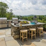outdoor spaces perfect for barbecues inspiration dering hall haver skolnick architects portfolio exteriors middletown accent patio table narrow chairside loveseat clearance mid 150x150