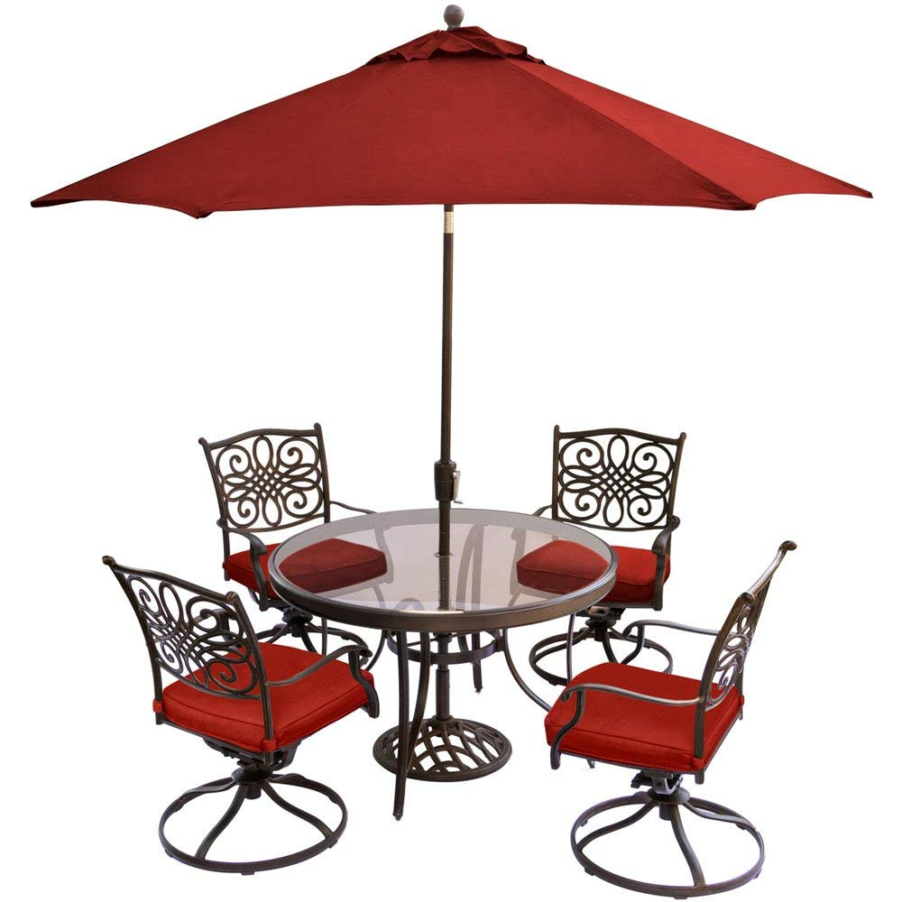 outdoor umbrella stand side table find get quotations hanover traditions piece dining set red with jcpenney patio furniture drawer cabinet vita silvia large wicker rattan end