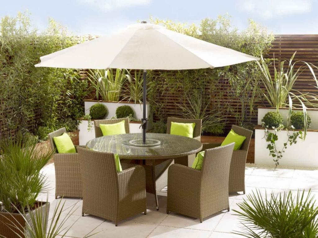 outdoor umbrella table children and chairs with tablecloth hole broyerk brown rattan patio stand accessories side full size pier papasan chair iron frame queen metal threshold