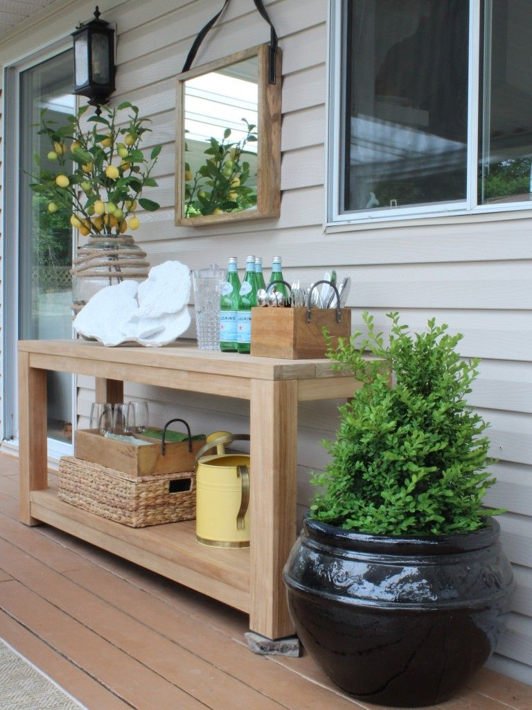 outdoor vignette patio before after styling your side table decor maria killam glass top dining wood coffee modern sedona furniture hobby lobby accent tall pub set entryway home