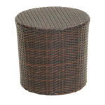 outdoor wicker barrel side accent table brown dining chairs edmonton unfinished wood dresser black glass coffee narrow bedside ikea small rectangular unique round tables drawer 150x150