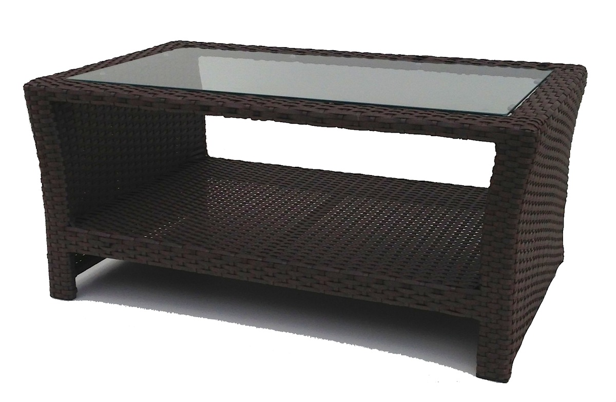 outdoor wicker inset coffee table wickerparadise glass top side small wood nightstand antique oak end tables colorful peva tablecloth patio set wide bedside cabinets flip gold
