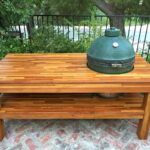 outdoor wood table with built grill storage forever redwood christopher side piece nesting tables average height edwards furniture purchase linens runner for square screw legs 150x150