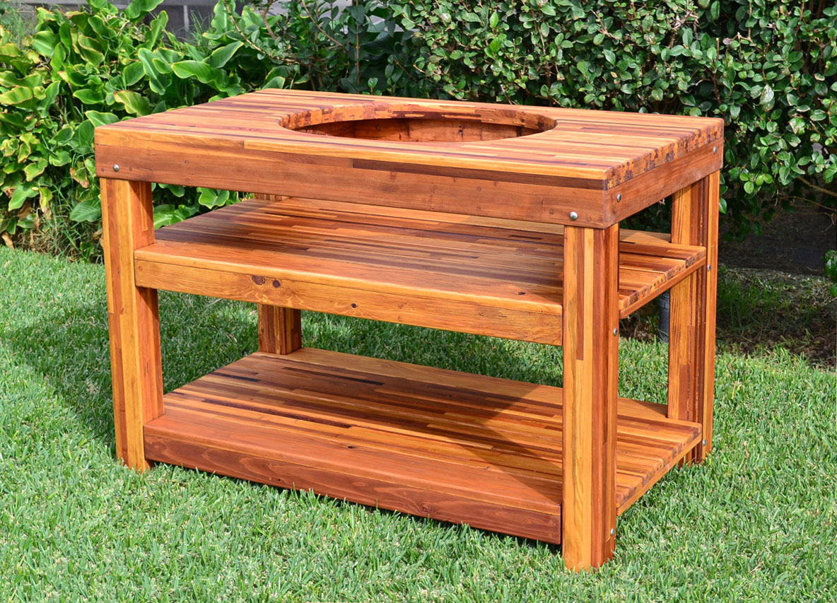 outdoor wood table with built grill storage forever redwood dsc side the ultimate bbq options coffee and end tables modern wooden designs small glass desk patio dining sets