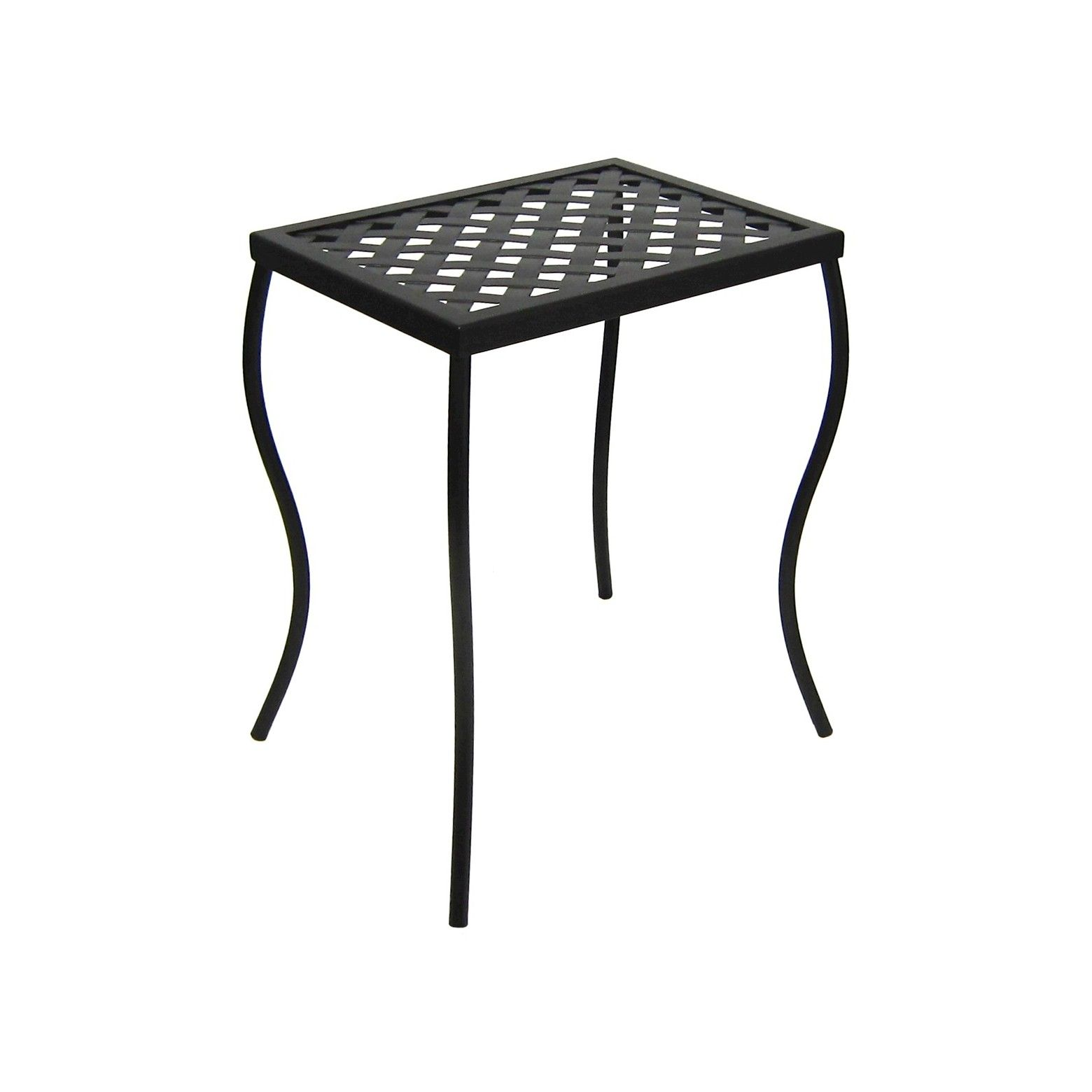 outdoor woven metal accent table threshold black seasons dress outside patio end with glass door pipe magnussen pinebrook red cloth nursery furniture diy cooler tall square coffee