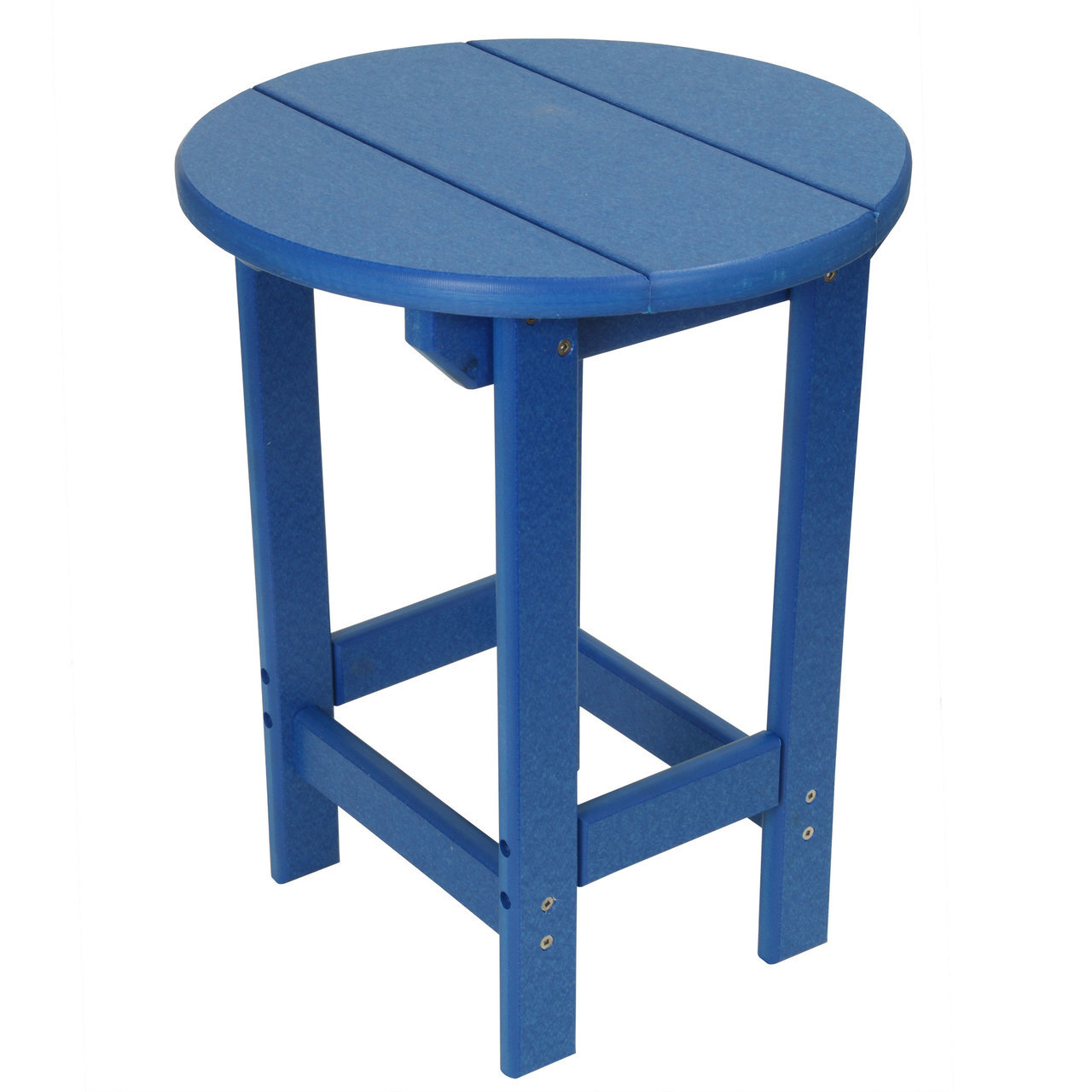 outer banks poly lumber round side table sidetable outdoor blue royal large square marble coffee indoor bistro dimensions nate berkus furniture foyer pier promo code safavieh
