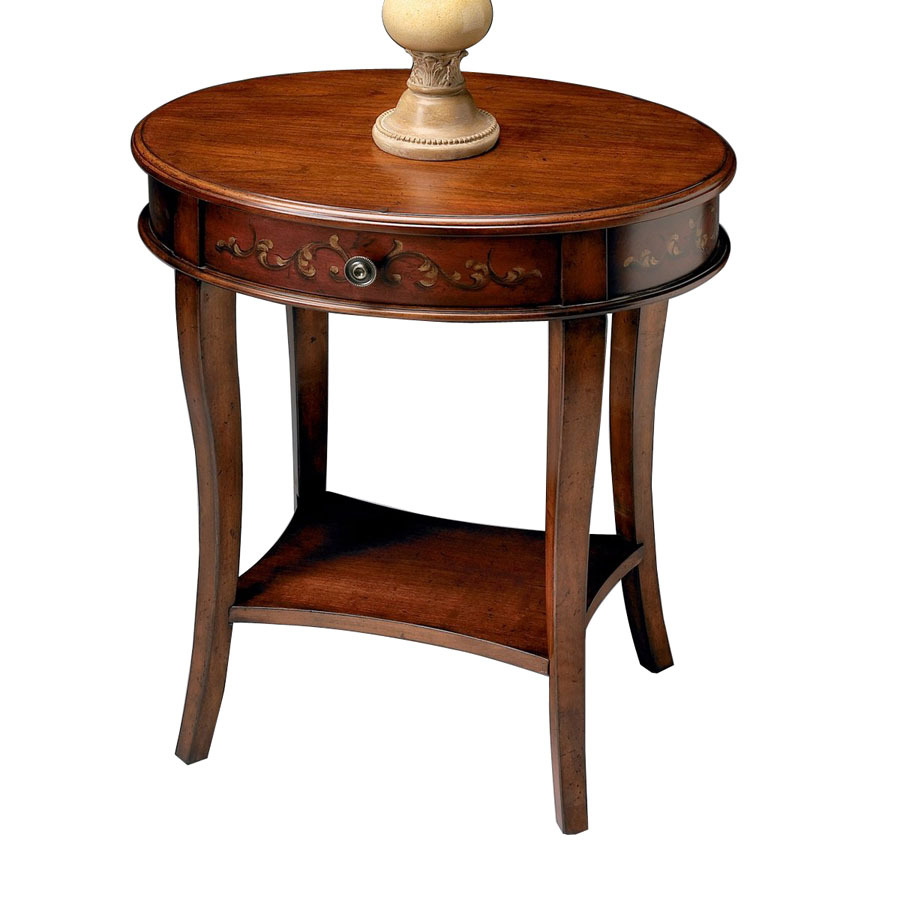 oval accent table contemporary side tables and end red home source round glass top living room with storage threshold furniture white gold nightstand small trestle legs mahogany