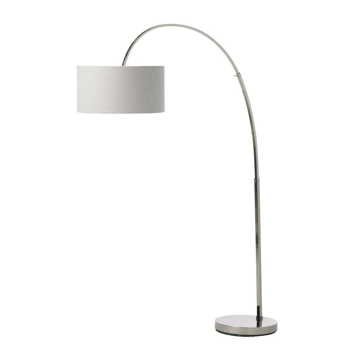 overarching floor lamp polished nickel white west elm media accent spotlight table adjustable height end extendable dimmable bedroom lamps with usb ports astoria sofa light pine