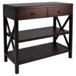 owings console table shelf espresso threshold black accent target entryway wooden small side bombay chest drum seat noguchi coffee candle centerpieces for tables round with 150x150