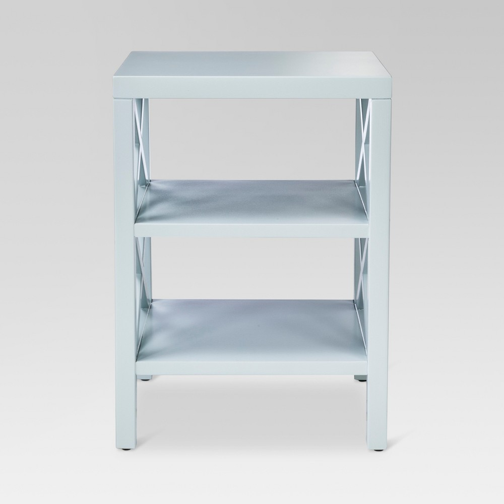 owings end table with shelves threshold brown from nextag teal accent light blue aqua sail opaque pier one imports locations narrow coffee storage entry side gold circle round