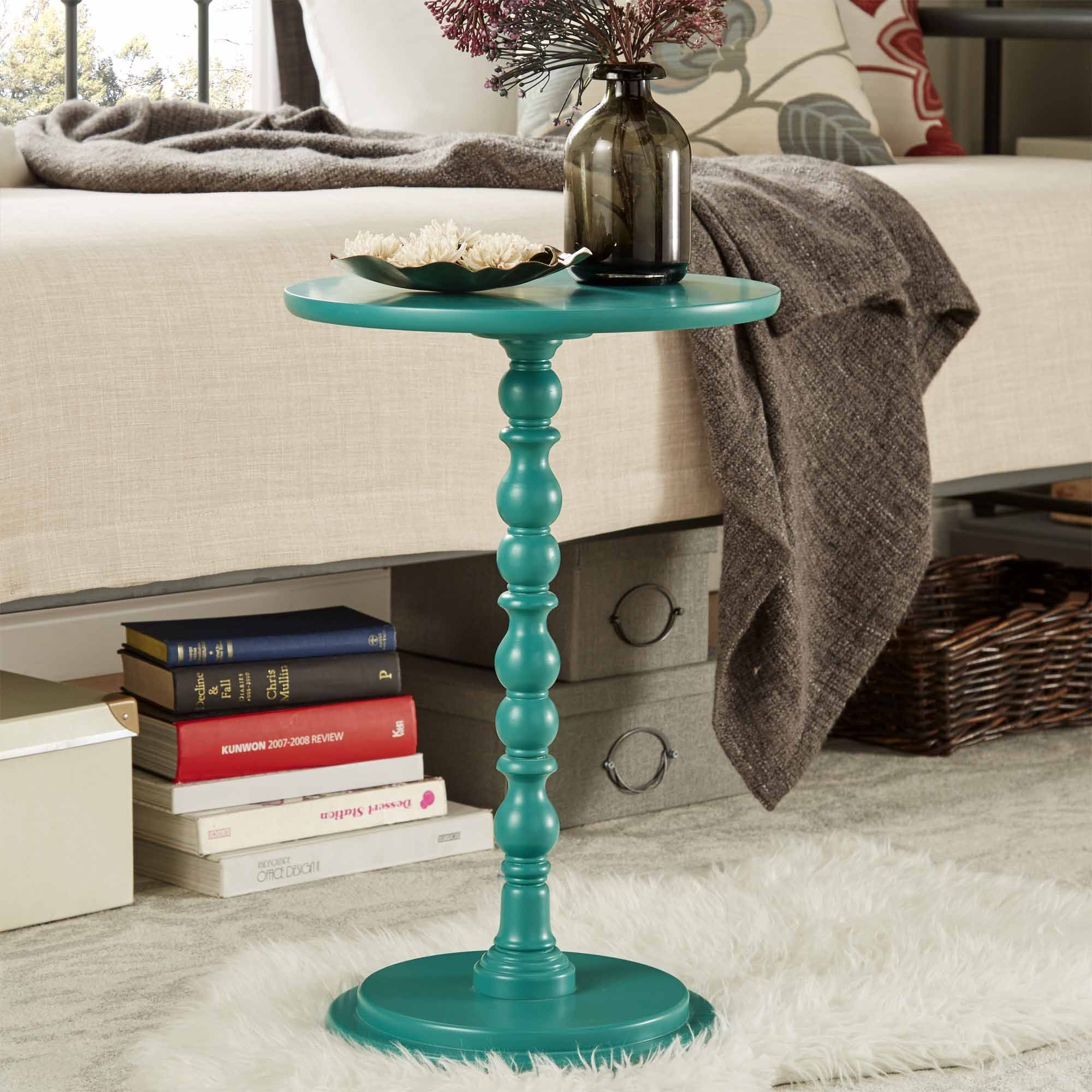 oxford creek connie pedestal accent table gem turquoise green threshold margate small glass lamps all side ikea garden bench tablecloth for rectangular contemporary trestle dining