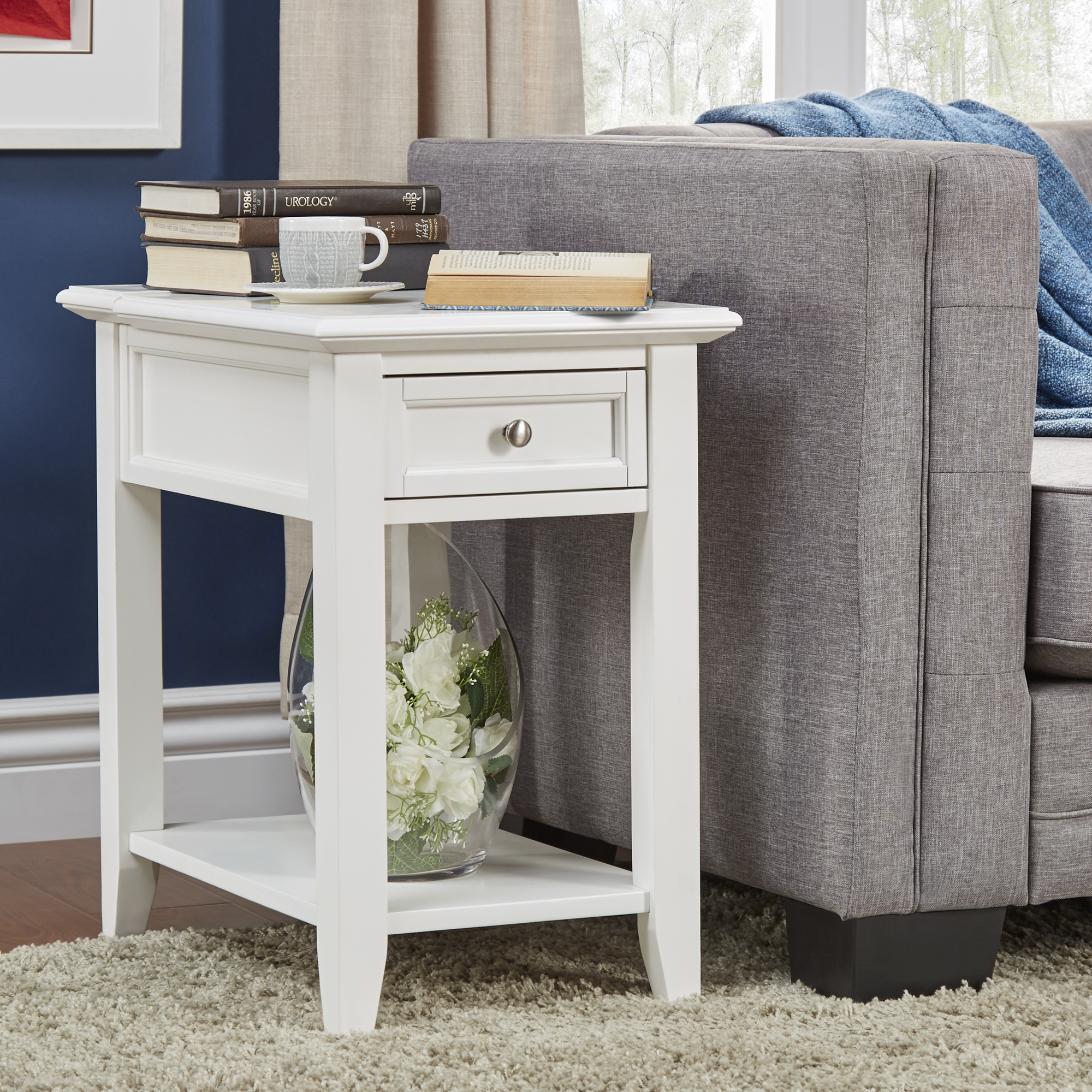 oxford creek ellason charging accent table white home prod end with phone charger furniture living room coffee tables ashley reclining sofa antique ethan allen next side nursery