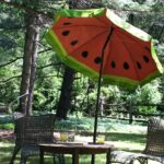 paint fun watermelon pattern your outdoor umbrella how tos diy patio accent table step next living room furniture small black round kitchen and chairs set skinny couch pottery 150x150